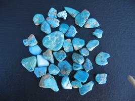 Tumbled Turquoise chips 50+grams