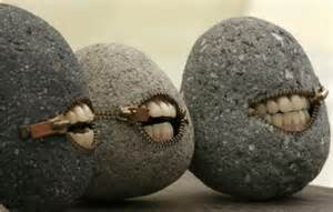 rocks with teeth